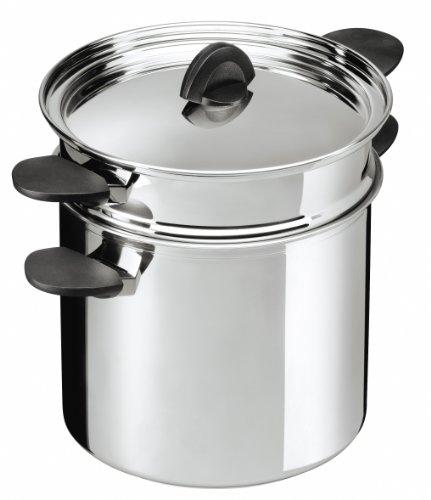 KUHN RIKON 37308 Luna marmite à pâtes avec passoire 6,5 l/22cm, INOX, métal, 22 cm