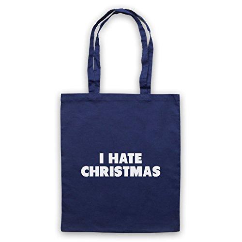 Odio Il Natale Divertente Anti Slogan Natalizio Umhangetaschen Ultramarinblau