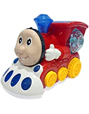 Popsugar Musical Bump and Go Smiley Train with Flashing Lights