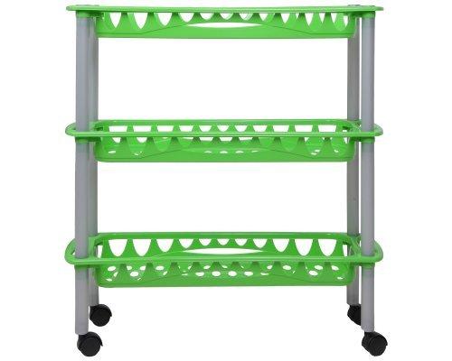 Ondis24 praktisches Küchenregal Badregal Badwagen Nischenwagen Still grün aus pflegeleichtem Kunststoff