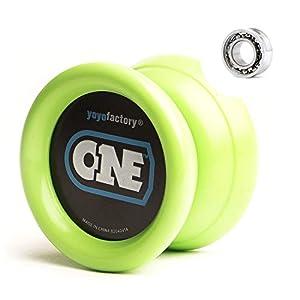 YoyoFactory One Yo-yo - Verde (De Principiante a Profesional, Cuerda e Instrucciones Incluidas)