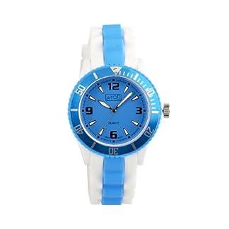 Eton 3014J-AQ – Reloj analógico unisex de silicona azul