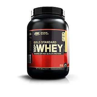 Optimum Nutrition Gold Standard Whey Eiweißpulver (mit Glutamin und Aminosäuren, Protein Shake von ON), French Vanilla Crème, 29 Portionen, 0.9kg