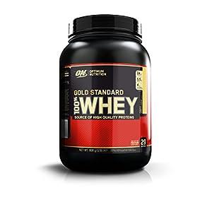 Optimum Nutrition Gold Standard Whey Eiweißpulver (mit Glutamin und Aminosäuren, Protein Shake von ON), French Vanilla Crème Eiweiß, 29 Portionen, 0,9kg