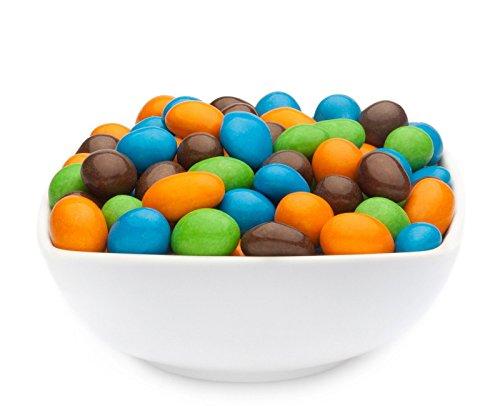 CrackersCompany \'Orange, Green, Blue & Brown Peanuts\' (1 x 750g in ZIP Beutel) Schokonüsse Orange, Grün, Blau und Braun - Erdnuss orange, grün, blau und braun in Schokolade