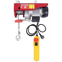 Ridgeyard Treuil à Câble Electrique Treuil-Palan Electrique Avec contrôle pour la maison atelier boutique de Garage (550W 125/250kg)