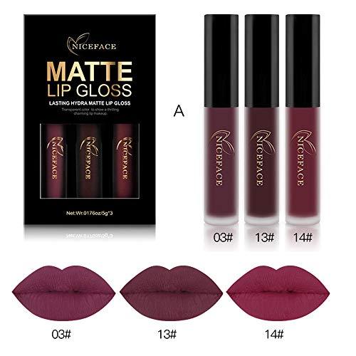 Styledress Lippenstifte Lipglosse Kit Matte Ink Lippenstift Set Flüssigkeit Farbecht Moisturizing...