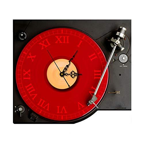 CTLDYR 3D Wanduhr Silent Uhr DIY CD-Player Aufkleber Tisch Wohnzimme Dekoration Wanduhr Wandaufkleber,40 * 38cm - Cd-player-wecker Für Mädchen