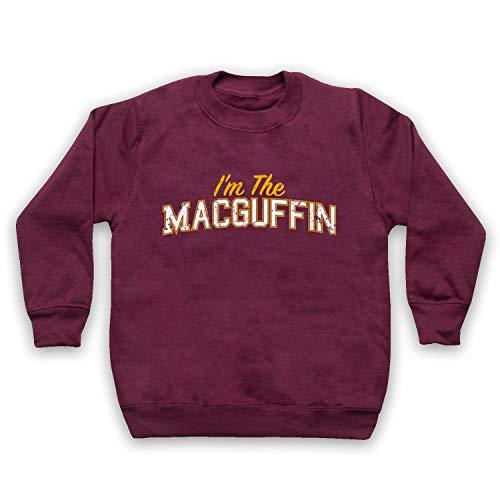 My Icon Art & Clothing I'm The Macguffin Funny Plot Device Slogan Kids Sweatshirt, Burgund, 12-13 Jahren -
