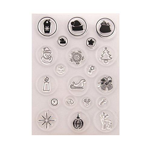 kaikaiwang DIY Silikonstempel, Clear Stamps - Stempel for Scrapbooking Album Foto,Halloween Weihnachten Valentinstag Thanksgiving Geschenke -