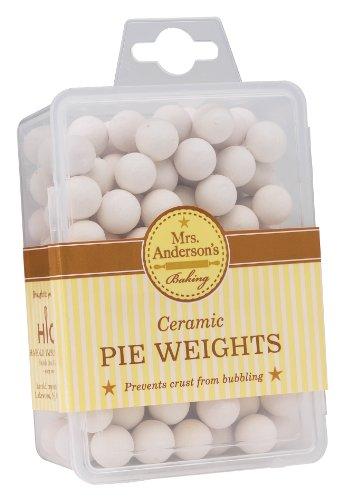 Mrs. Anderson's Baking Ceramic Pie Crust Weights, Natural Ceramic Stoneware Ceramic Pie Weights
