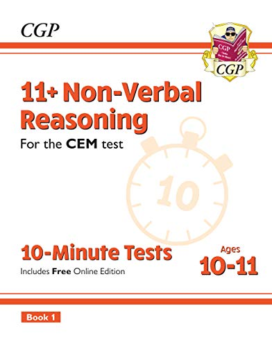 New 11+ CEM 10-Minute Tests: Non-Verbal Reasoning - Ages 10-11 Book 1 (with Online Edition)