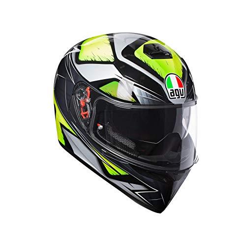 AGV Casco Moto Integrale K-3 Sv E2205 Multi Plk, Liquefy Grigio/Giallo Fluo, Taglia MS