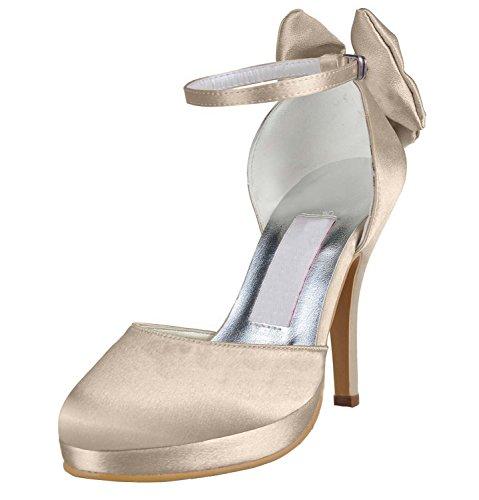 Kevin Moda, Casamento Sapatos Da Moda Das Mulheres Champange