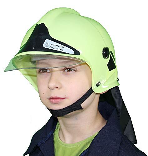 Foxxeo Feuerwehrhelm für Kinder Feuerwehr Helm mit Visier zum Feuerwehrmann Jungen ()