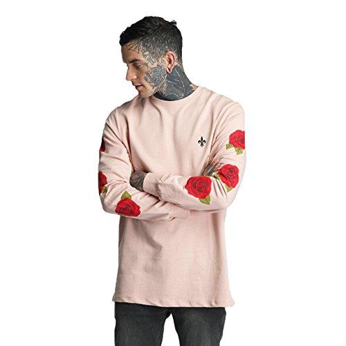 Criminal Damage Herren Oberteile / Longsleeve Rosa Pink