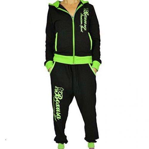CBKTTRADE Boxusa Combinaison Survêtement pour Loisirs pour Femme de Fitness à Capuche Club Design ou au Choix - Multicolore - S