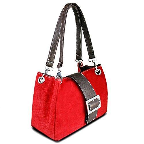 sintetica donna borsa mano borsa hobo Lulu con tracolla a Rosso Miss Borsa a Pelle wqX8Iwpg