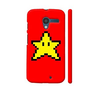 Colorpur Moto X1 Cover - Star Pixel Art On Red Case