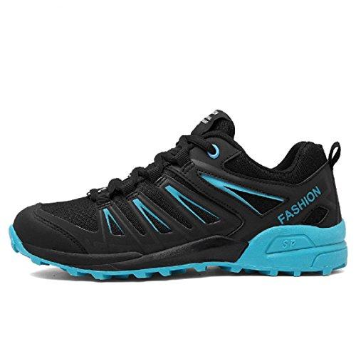 Hommes Respirant Chaussures de sport Antidérapant Chaussures de course Formateurs Chaussures de voyage De plein air Baskets Blue
