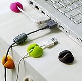 Liroyal 10 Pcs Wire Cord Cable Drop Clips Organizer Fixer Management