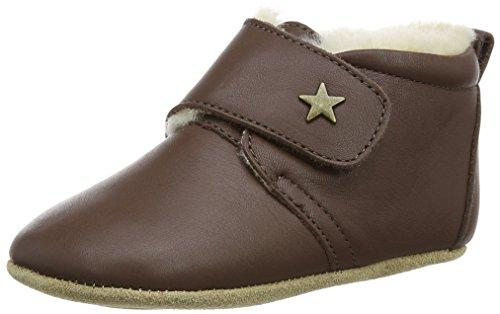 Bisgaard Unisex Baby Wool Star Pantoffeln, Braun (60 Brown), 21 EU