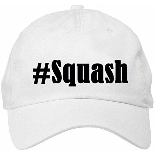 """Base Cap Hashtag """"#Squash""""Größe""""uni""""Farbe""""Weiss""""Druck""""Schwarz"""