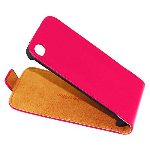ebestStar - pour Apple iPhone 4S, 4 - Housse Coque Etui à rabat PU cuir ULTRA FIN (ultra slim case), Couleur Noir [Dimensions PRECISES de votre appareil : 115.2 x 58.6 x 9.3 mm, écran 3.5''] Rose