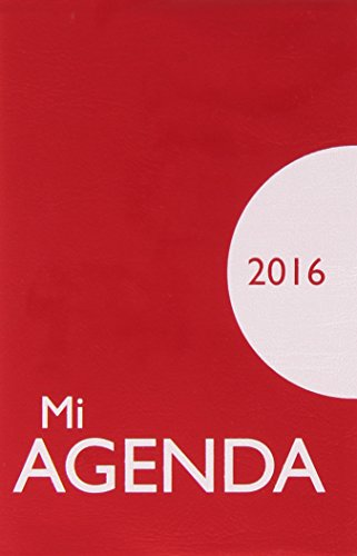 Mi Agenda 2016 Con Funda De Plastico 12 X 7, portadas con colores surtidos (Calendarios y agendas)