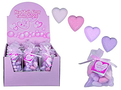 Out of the Blue Heart Shaped Pink Bath Fizzer Bombs