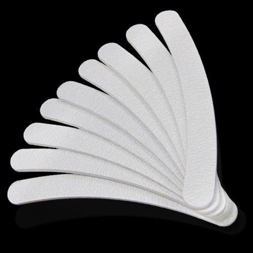 Arpoador 10x Nagelfeile geschwungen, doppelseitig, Weiß Nagelfeile -
