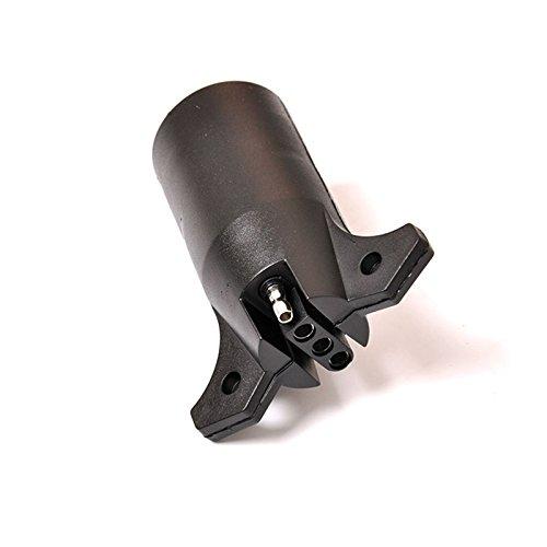 elegantstunning 12V 7-Wege-Runde zu 4 Pin Flat Trailer Light Adapter Stecker RV - Schwarz