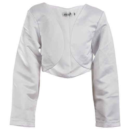 Prelest Festliche Mädchen Bolero Jacke in Weiß oder Schwarz für fast jedes Kleid M114ws Weiß...