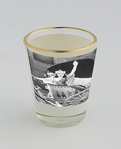 shot-glass-with-gold-rim-of-woman-in-chariot