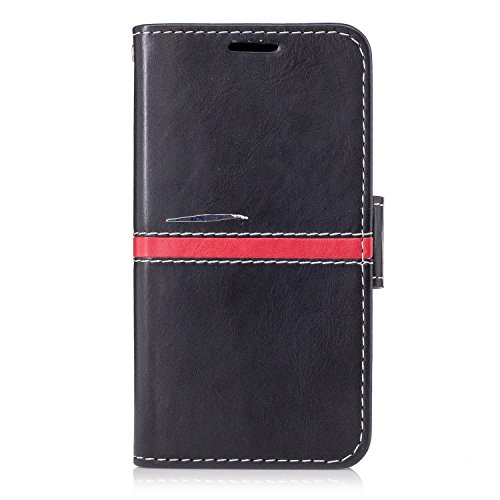 Sony Z3 MINI Case Cover, Premium PU Leder horizontalen Flip Stand Case mit Halter & Wallet & Card Slot & Foto Frame für Sony Z3 MINI ( Color : Black , Size : Sony Z3 MINI ) Red