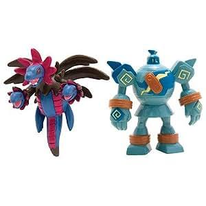 Pokemon – Pack 2 Mini Figurines – Golemastoc vs Trioxhydre