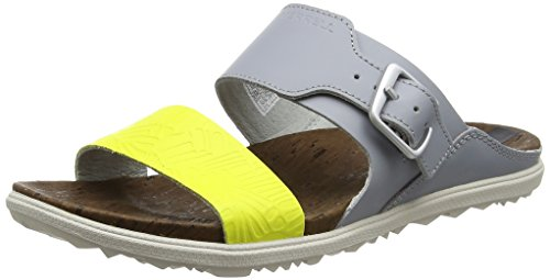 Merrell Damen Around Town Buckle Slide Print Sandalen Grau (Sleet)