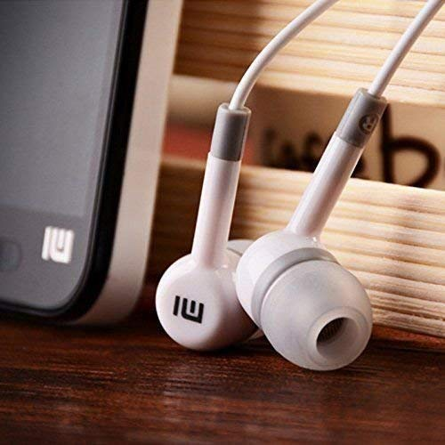 Mi og in-Ear Wired Headphone with 3.5 mm Jack and in-line Mic Compatible for All Android Mobiles (White)