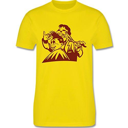 Handwerk - Friseur - Herren Premium T-Shirt Lemon Gelb