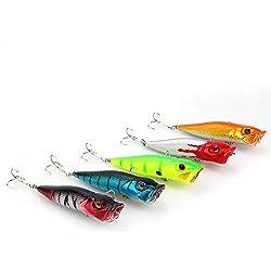 5 UNIDS Kit de Señuelos de Pesca Lotes de Aparejos de Pesca Completos Que Incluyen el Señuelo Duro Minnow Popper Crankbaits Cebos Tackle Atrapar a los Peces Necosos