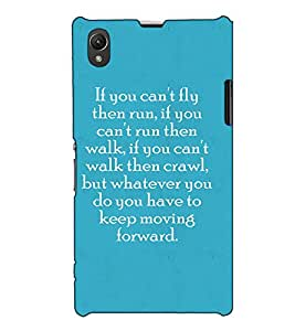 Fuson Designer Back Case Cover for Sony Xperia Z1 :: Sony Xperia Z1 L39h :: Sony Xperia Z1 C6902/L39h :: Sony Xperia Z1 C6903 :: Sony Xperia Z1 C6906 :: Sony Xperia Z1 C6943 (If you can't fly theme)