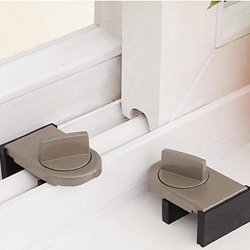 Frisch Transfer Fenster Schiebetür Fensterflügel Stopper Kinder Security Lock Verstellbare Robustheit (Schwarz-schiebe-tür)