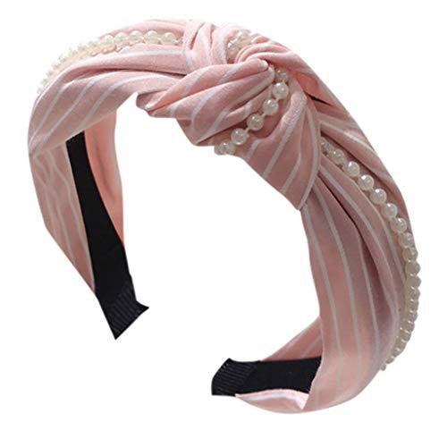 Younthone❤❤Kopfband Haarspange,Damen Kristall Stirnband Stoff Haarband Kopf wickeln Haarband Zubehör speciales neues Design für Damen Perle Haarnadeln (Halloween Kränze Cute)