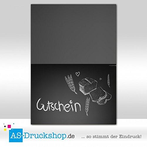 Gutschein Bäckerei Tafel / 100 Stück / DIN A6