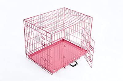 Dog Puppy Cage Pink 36 inch by Easipet