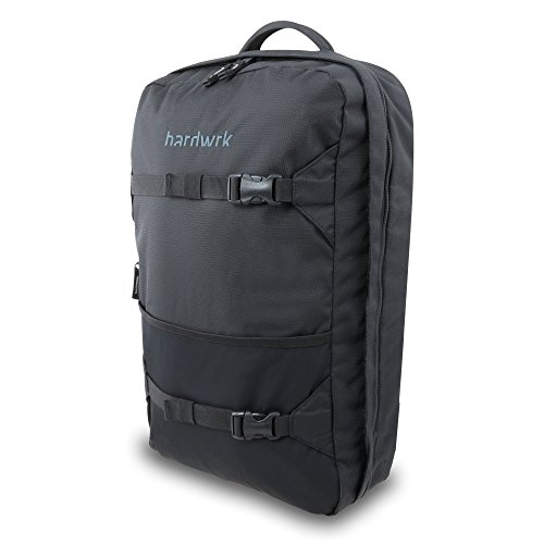 hardwrk Backpack Pro - Business Office Rucksack in neutralem Design - schwarz - Deuter Airstripes-Rückensystem - Extra Fach Tasche kompatibel mit Apple iPad MacBook Laptop Notebook (Pro Macbook Fall Men)