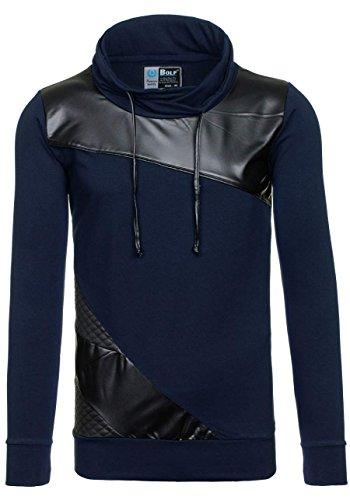 BOLF – Sweat-shirt – de sport – BOLF 3210 – Homme Bleu foncé