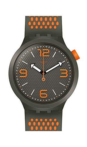 Swatch Herren Analog Quarz Uhr mit Silikon Armband SO27M101 (Herren-swatch)