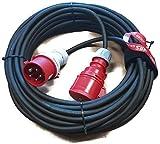 CEE Verlängerungskabel Starkstromkabel 32A 5x2,5mm² MRS (25m mit Phasenwender 243225)