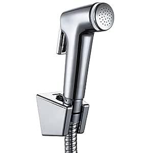 Ciencia tenuto in mano bidet spruzzatore Premium in acciaio INOX spruzzatore bidet Shattaf/ /completo set per WC mano bidet spruzzatore per WC WS024AF6